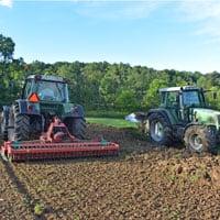 Preparing seed bed for Appalachian Wheat • Weatherbury Farm Grain Tracker 2021
