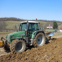 Plowing Glenn Wheat 3.21.21 • Weatherbury Farm Grain Tracker 2021