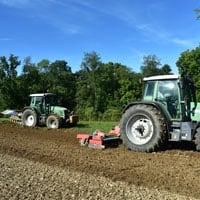 Preparing field to plant Maxine Wheat • Weatherbury Farm Grain Tracker 2021