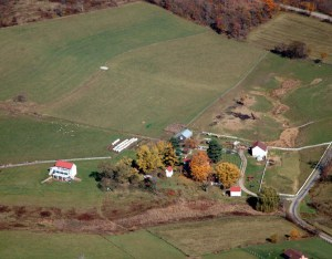 2009 aerial view northeast · Weatherbury Farm