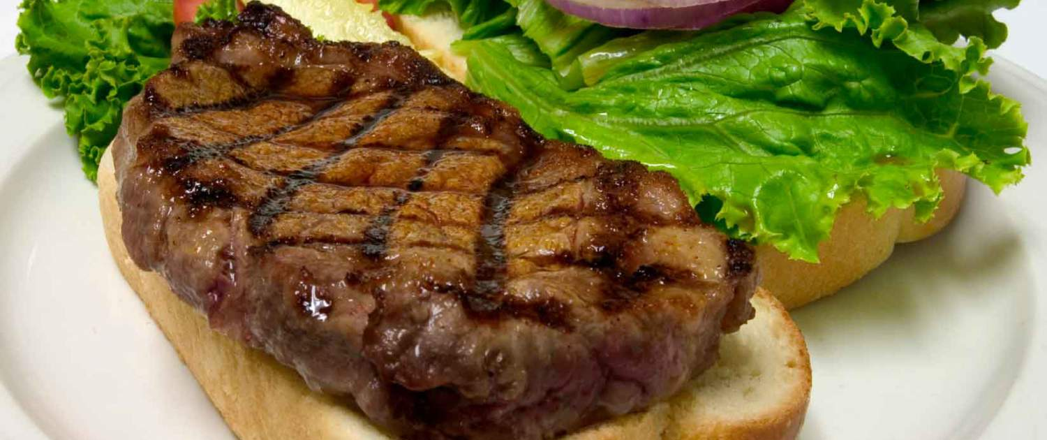 Weatherbury Farm grass fed beef makes great steak sandwiches