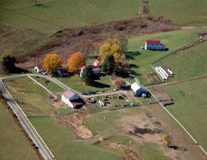 2009 aerial view west · Weatherbury Farm