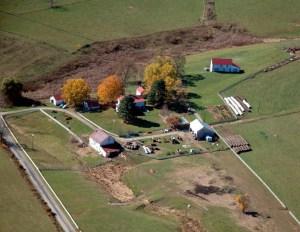 2009 aerial view west · Weatherbury Farm
